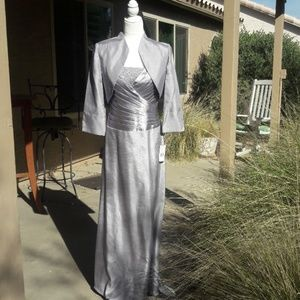 Jessica Howard Mother of the Bride Gown in Silver